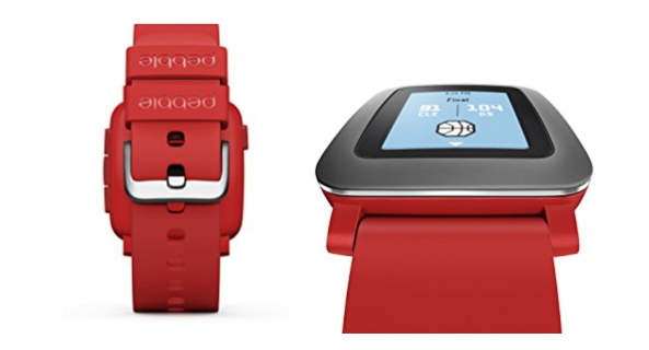 Pebble Time Smartwatch for Smartphone Red Review
